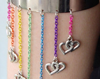 Rainbows and Hearts Arm Cuff