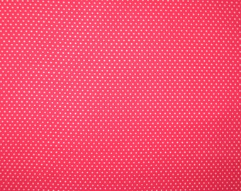White pin dots on red1/2 yard X 42""