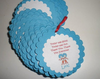 Thing 1 & Thing 2 Favor Tags - Set of 12