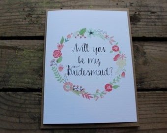 Will you be my Bridesmaid, Matron/Maid of Honor, Wedding Party Card, with Envelopes - Set of 10