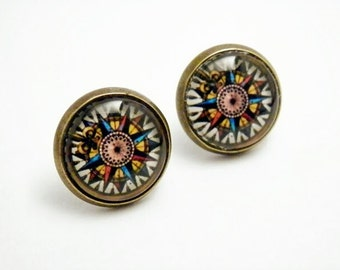 Compass Earrings - Direction