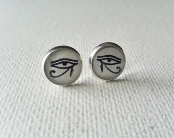 Eye of Horus Earrings -  Eye Earrings - Wadjet Earrings