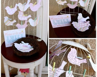 Paper birds - Set of 10.  Pick your color.