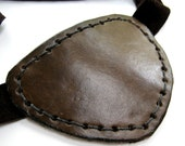 Brown Leather Eye Patch Steampunk Dark Brown Eyepatch Pirate Cosplay