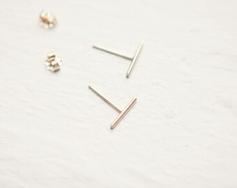 Solid 14k Recycled Gold 'Linea' Earrings