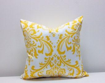 Traditions Slub - Yellow/White - Pillow Cover