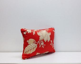 Jay Yang - 12 x 16 Bengal Coral-  Lumbar Pillow cover with Cording