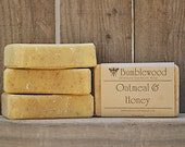 Oatmeal & Honey Handmade 4 oz  Bar Soap