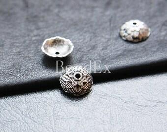 30pcs / Bead Cap / Oxidized Silver  / Base Metal  (YA16205//O148)