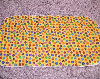 Multicolored Dotted Burp Cloth