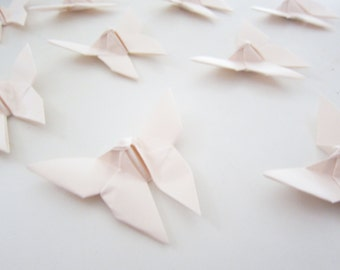 SALE 27 Baby Peach Origami Butterflies