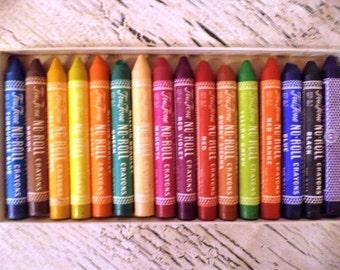 Lot of Vintage Crayons and Chalk - Crayola, Milton Bradley, No-Roll Crayons