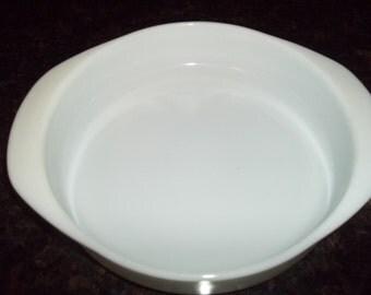 Pyrex #221 Milk White Cake Pan, with Handles