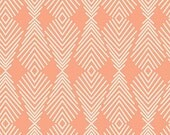 1 Yard Plumage in Apricot, Quilting Cotton, Winged by Bonnie Christine, Art Gallery Fabrics