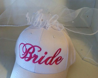 Bride Matching Veil Hat with Bling