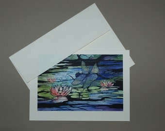 Magic Dragonfly 5 x 7 Card