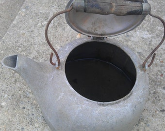 Vintage Antique 1902 Wagner Cast Aluminum Kettle Coffee Pot