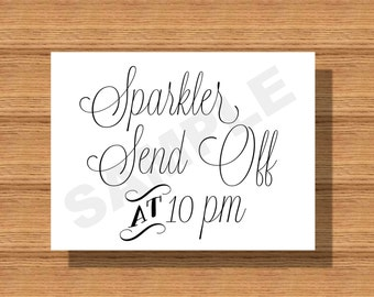 Custom Designed Wedding Sparkler Send Off Sign