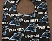 Single Carolina Panthers Reversible Baby Bib