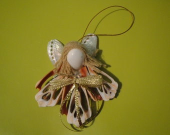 Seashells Christmas Angel Ornament