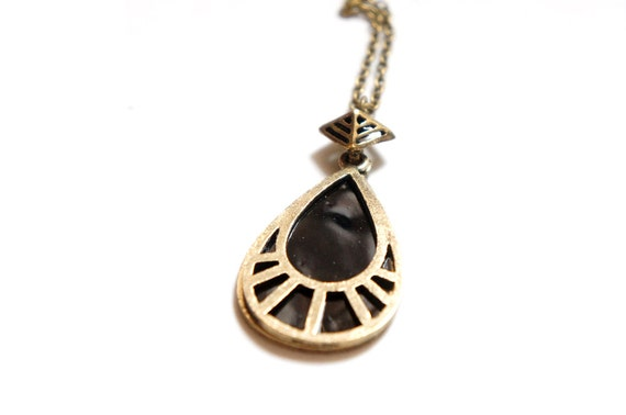 SALE Black Magic Drop Necklace - Bridesmaids Gifts Ideas