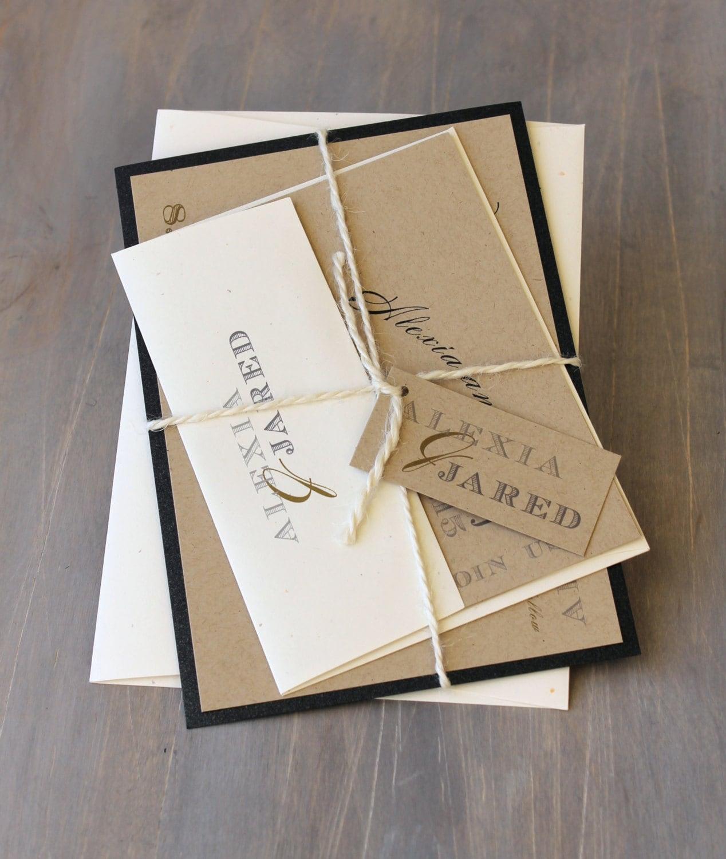 Rustic Wedding Invitations: Rustic Wedding Invitation Modern Wedding Invitations Rustic