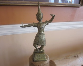 brass indian dancing man, ethnic,
