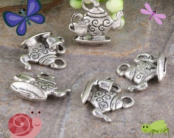Teapot Charms 4  pack Low Shipping