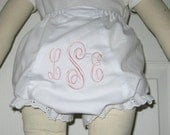Monogrammed Bloomer Diaper Cover Personalized Bloomer Diaper Cover Custom Embroidered Baby  Toddler Girl Gift