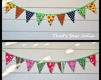 Double Sided Christmas and Halloween Flag Bunting (Ready to Ship)
