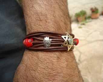 Star of David ,bracelet  for men and women.