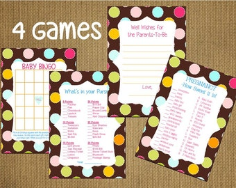 crazy sale set of 4 baby shower game advice for the parents cards