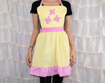 Inspired By My Little Pony Fluttershy Cosplay Kitchen Apron MTCoffinz