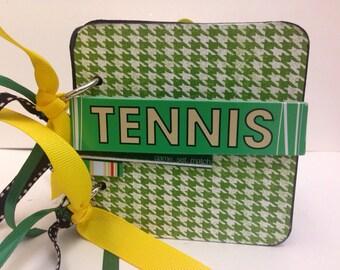Tennis scrapbook chipboard premade pages brag book tennis anyone?