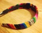Southwest, headband, vintage, 90s, woven, bright, tribal, boho