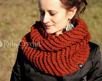 Crochet Infinity Scarf - Chunky Cowl - READY TO SHIP