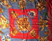 Hermes silk teddy bear scarf