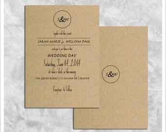 Brown Paper Wedding Invitation