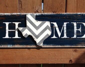 Texas Home Sign Dallas Cowboy Inspired