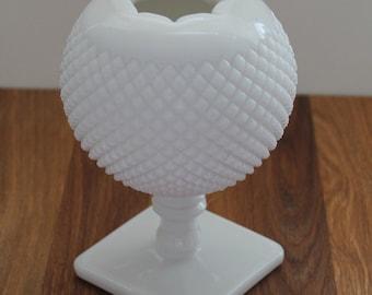 Vintage Milk Glass Ivy Ball VASE--Collectible Milk Glass--Westmoreland