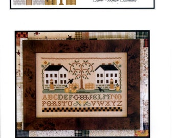 Little House Needleworks: Two White Houses - Cross Stitch Pattern