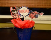 Reserved listing Spiderman Centerpiece cut outs