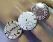 Handmade Adjustable Steampunk Ring, Watch Steam punk Ring, watch ring, clock ring, adjustable ring, upcycled, steampunk jewellery, recycled