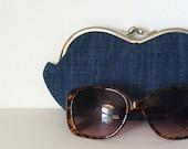Blue Jean Beauty Queen Denim, a sunglasses, eyeglass case, smartphone case, small clutch