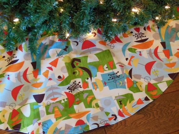 Orange Christmas Tree Skirt