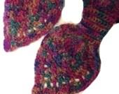 Keyhole Ascot Scarf Crochet Pineapple Neckwarmer Neck Wrap