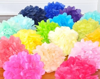 10 Tissue Poms- Your color choice- Sale