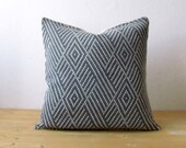 Free shipping - Wool decorative cushion cover / Knitted graphic pillow cover / Geometric pillow cover / minimalist home decor