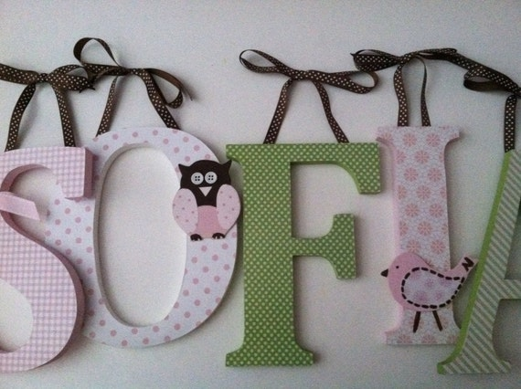 Items similar to wooden letters for nursery spelling out for Where to buy wooden letters for nursery