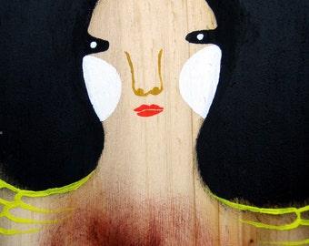 Original Painting on Wood Box